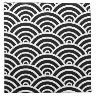 motif noir et blanc serviettes en tissu motif noir et blanc serviettes coktail. Black Bedroom Furniture Sets. Home Design Ideas