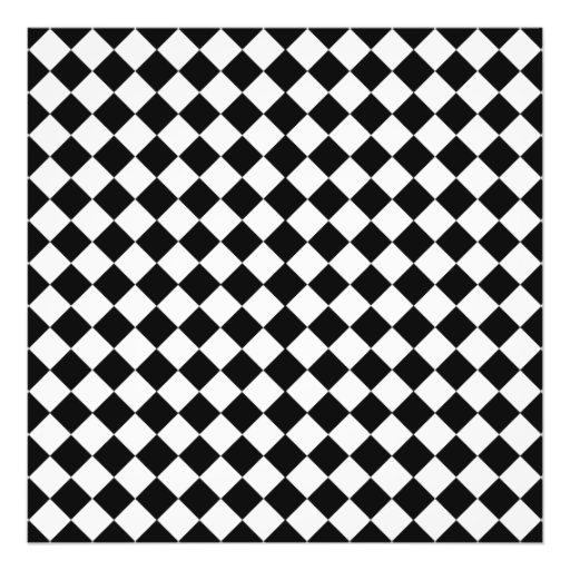Motif noir et blanc de forme de diamant photographies