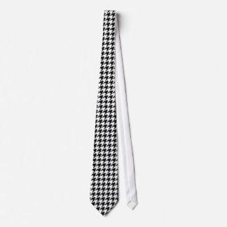 Motif noir et blanc de Houdstooth Cravates