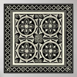 posters affiches mandala noir et blanc personnalis s. Black Bedroom Furniture Sets. Home Design Ideas