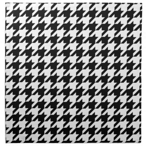 Motif noir et blanc de pied de poule serviettes en tissus zazzle - Motif pied de poule ...