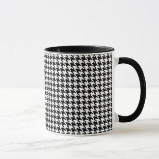 Motif noir et blanc de pied-de-poule tasses