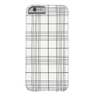 Motif noir et blanc de plaid de tartan coque barely there iPhone 6