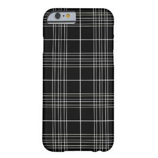 Motif noir et blanc de plaid de tartan coque iPhone 6 barely there