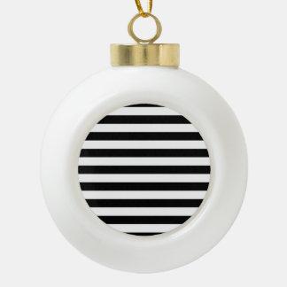 Motif noir et blanc de rayure boule en céramique