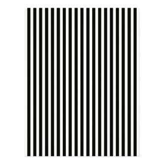 Motif noir et blanc de rayure de cabane de prospectus 21,6 cm x 24,94 cm