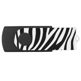 Motif noir et blanc de rayures d'impression de clé USB 2.0 swivel