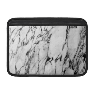 Motif noir et blanc moderne de marbre de mode poches macbook air