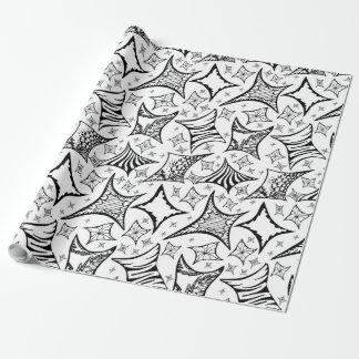 motif noir et blanc papiers cadeaux noël