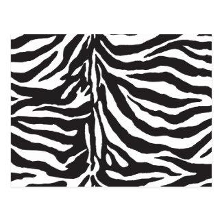 Motif noir et blanc simple de rayure de zèbre carte postale