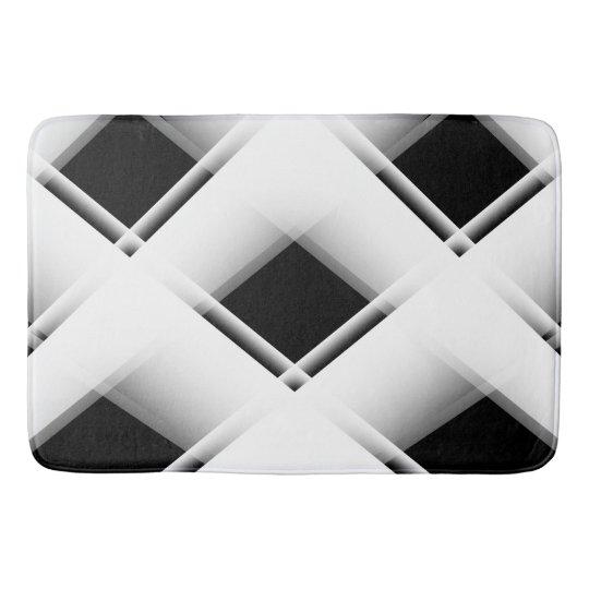Motif noir et blanc tapis de bain zazzle - Tapis de bain noir et blanc ...