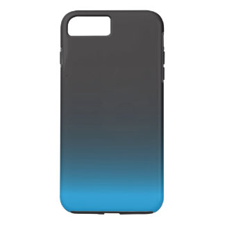 Motif noir et bleu simple coque iPhone 7 plus