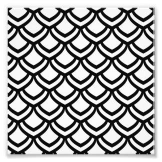 Motif noir et de blanc d'échelles photographie