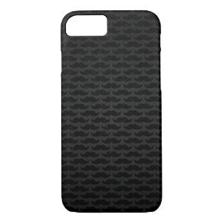 Motif noir et gris de moustache coque iPhone 7