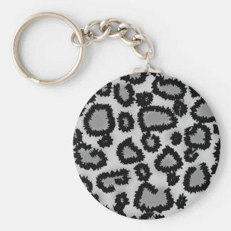 Motif, noir et gris d'empreinte de léopard porte-clés