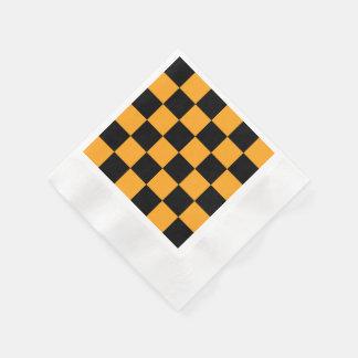 Motif noir et orange de contrôle serviettes jetables