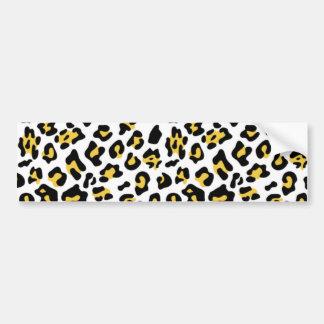 Motif noir jaune de poster de animal de léopard autocollant de voiture