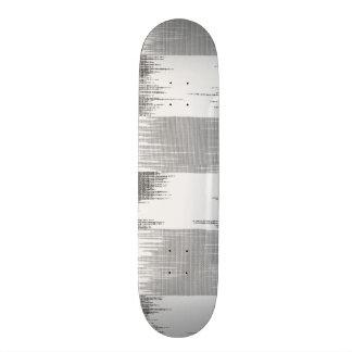 Motif noir moderne d'ikat de blanc gris plateau de skateboard