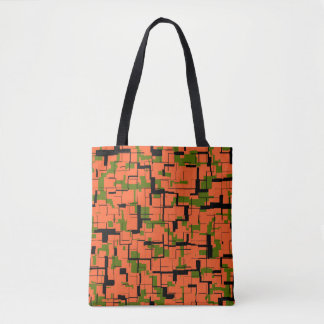 Motif noir orange vert de Digitals Camo Tote Bag
