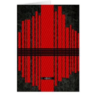 Motif noir rouge de fantaisie de rayure cartes