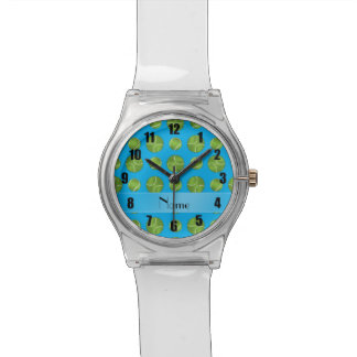 Motif nommé personnalisé de balles de tennis de bl montres cadran