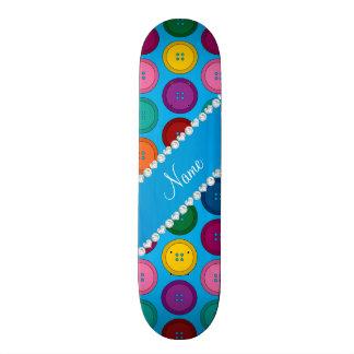 Motif nommé personnalisé de boutons d'arc-en-ciel plateau de skate
