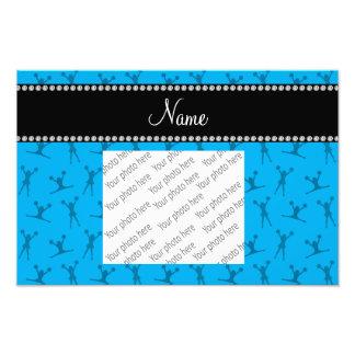 Motif nommé personnalisé de pom-pom girl de bleu photographe