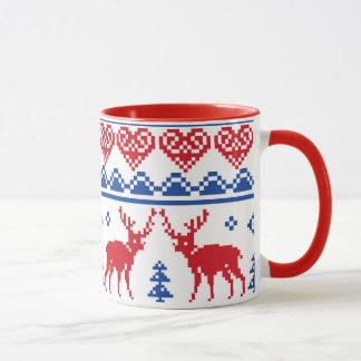 Motif nordique de renne de Noël Mug