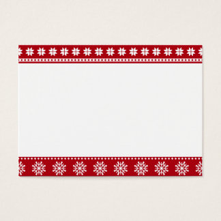 Motif nordique de vacances de Noël confortable Cartes De Visite