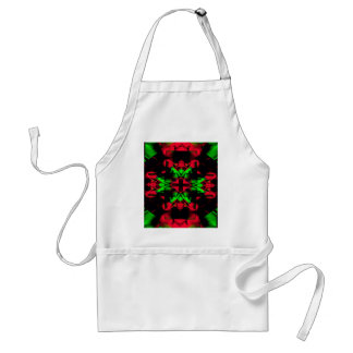Motif nouveau de Noël saisonnier vert rouge frais Tablier