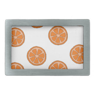 Motif orange boucles de ceinture rectangulaires