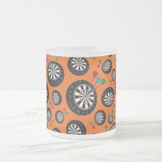 Motif orange de cible mug en verre givré