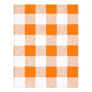 Motif orange de contrôle de guingan prospectus 21,6 cm x 24,94 cm