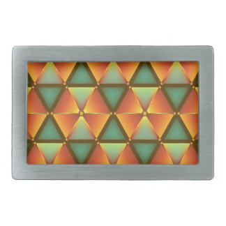 Motif orange de diamant boucles de ceinture rectangulaires
