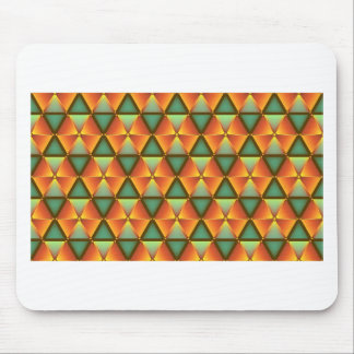 Motif orange de diamant tapis de souris