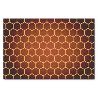 Motif orange de nid d'abeilles papier mousseline