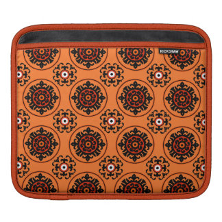 Motif orange de Suzani Poches iPad