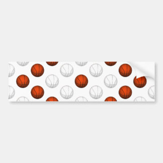 Motif orange et blanc de basket-ball autocollant pour voiture