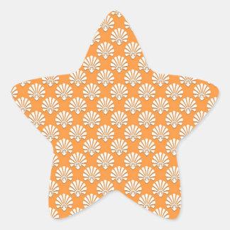 Motif orange et blanc de mandarine mignonne stickers en étoile