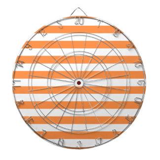 Motif orange et blanc de rayure jeux de fléchettes