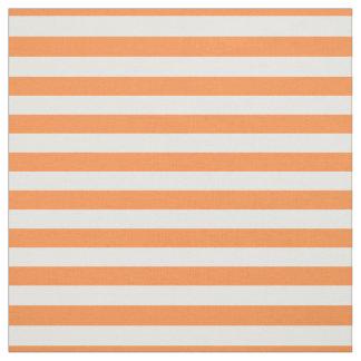 Motif orange et blanc de rayure tissu