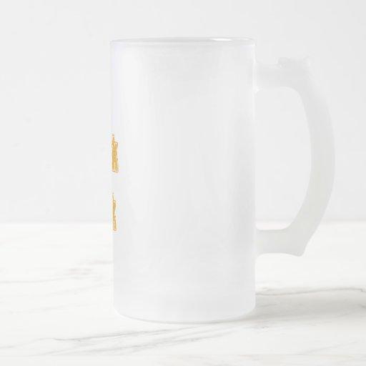 Motif orange je parle le geek mug à café