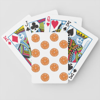 Motif orange jeu de cartes