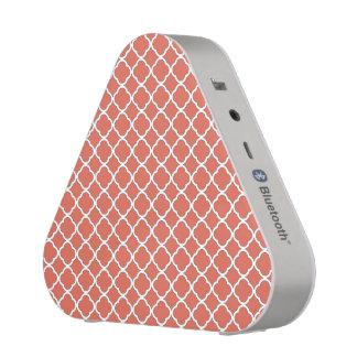 Motif orange mignon de Quatrefoil Maroccan de Haut-parleur Bluetooth