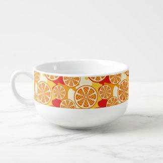 Motif orange mug à soupe