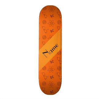 Motif orange nommé personnalisé de geek planches à roulettes customisées