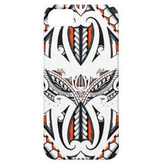 Motif orange polynésien maori tribal détaillé coque iPhone 5 Case-Mate