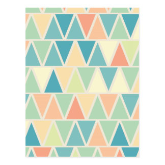 Motif orange turquoise de triangle carte postale