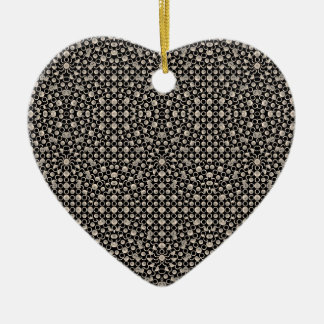 Motif oriental moderne ornement cœur en céramique