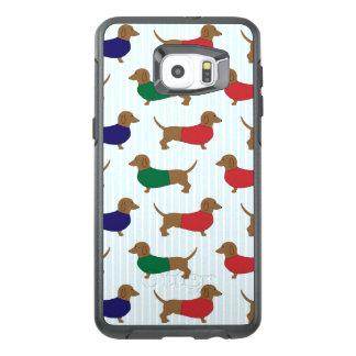 Motif Otterbox Samsung S6 de teckel plus le bord